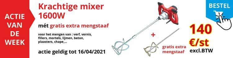 Actie van de week: Actie van de week : krachtige mixer 1600W met gratis éxtra mengstaaf