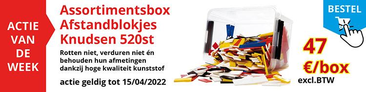Actie van de week : Assortimentsbox 520st Knudsen afstandblokjes